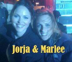 Jorja and Marlee – On Set