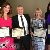 The Lion Ark team with their nomination certificates.
