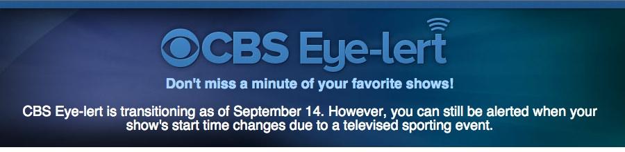 CBS Eye-Lert notice