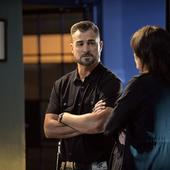 George Eads and Jorja Fox - Neil Jacobs/CBS ©2014 CBS Broadcasting, Inc. All Rights Reserved
